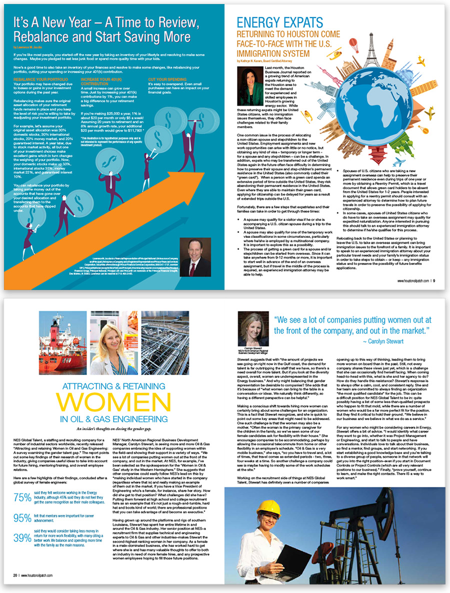 Houston Oilpatch Magazine Editorial Design & Layout by Lauren Blyskal