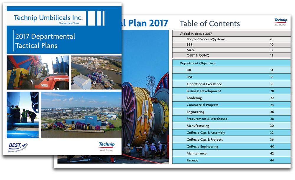 Technip Umbilicals Tactical Plan Booklet Design