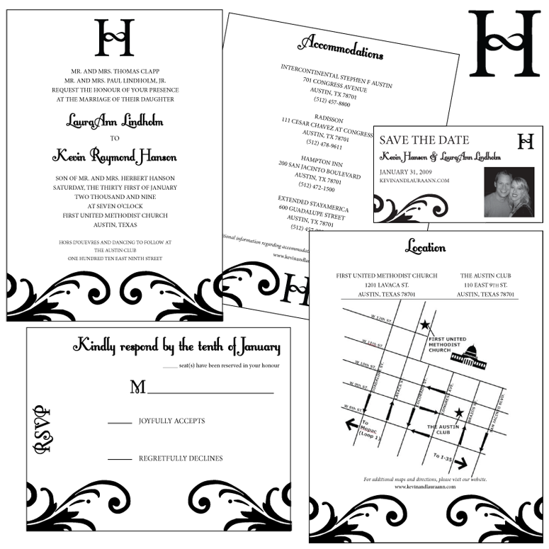 Wedding Invitation Set Design by Lauren Blyskal