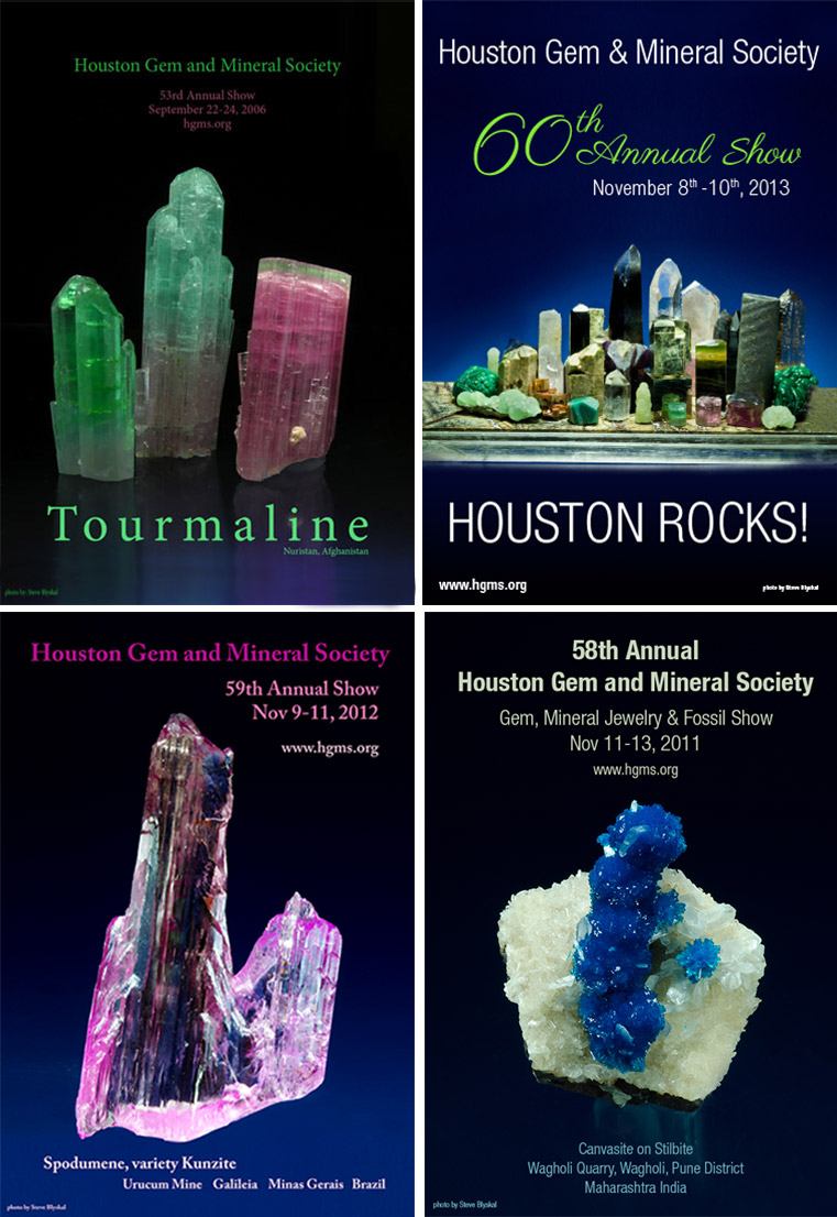 Houston Gem & Mineral Society Annual Show Event Poster Designs