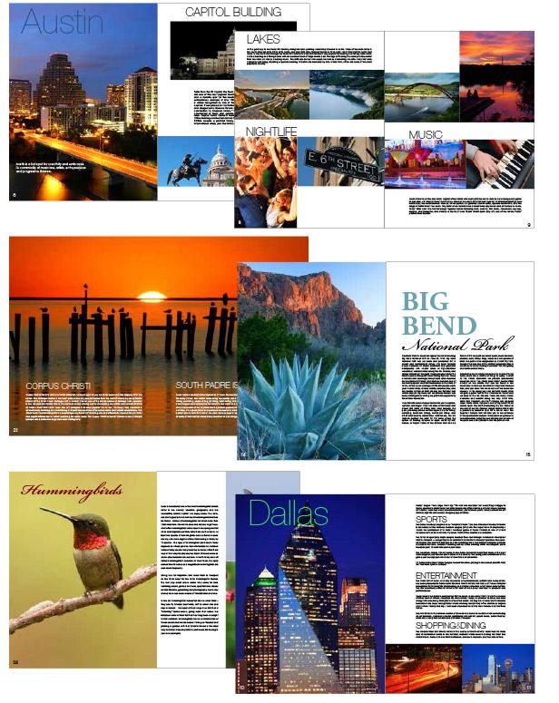 Treasures of Texas Brochure Design
